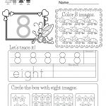 Free Printable Number Eight Worksheet For Kindergarten | Free Printable Number Worksheets
