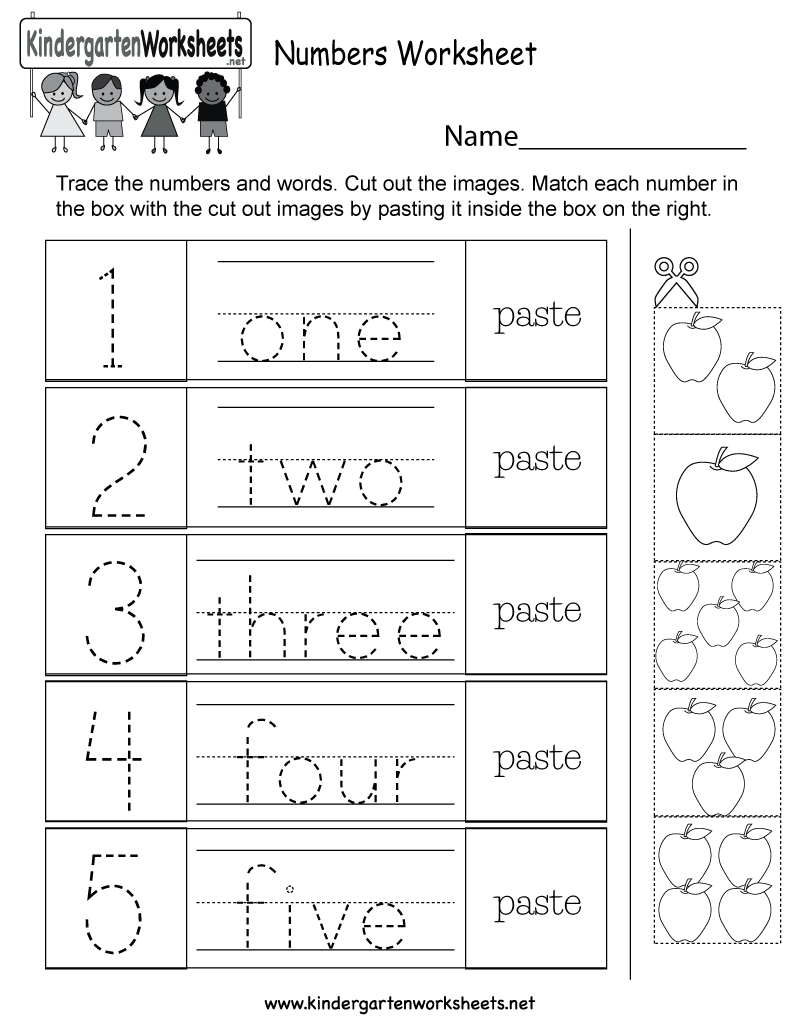 Free Printable Numbers Worksheet For Kindergarten | Numbers Printable Worksheets