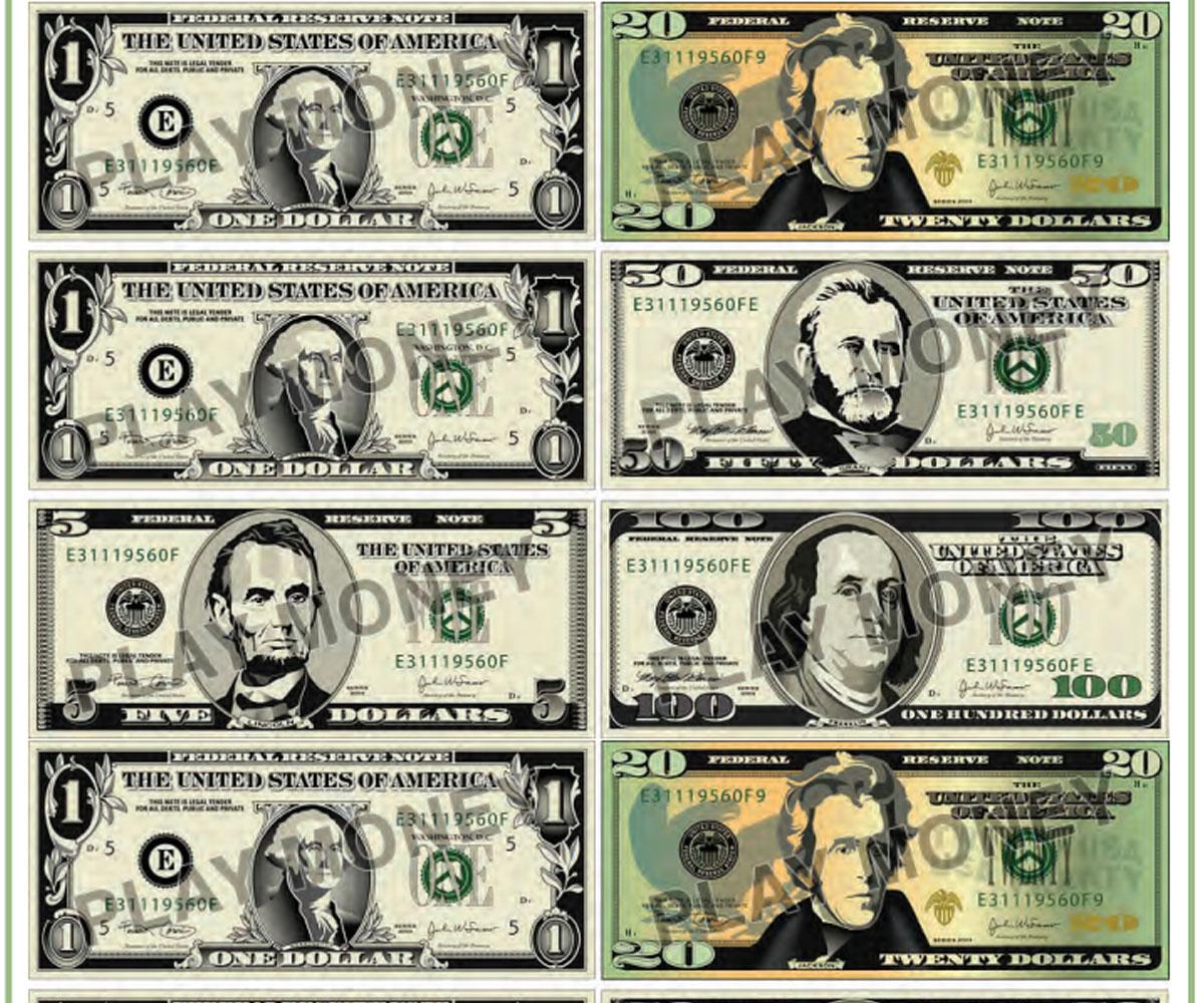 Free Printable Play Money - Familyeducation | Printable Paper Money Worksheets