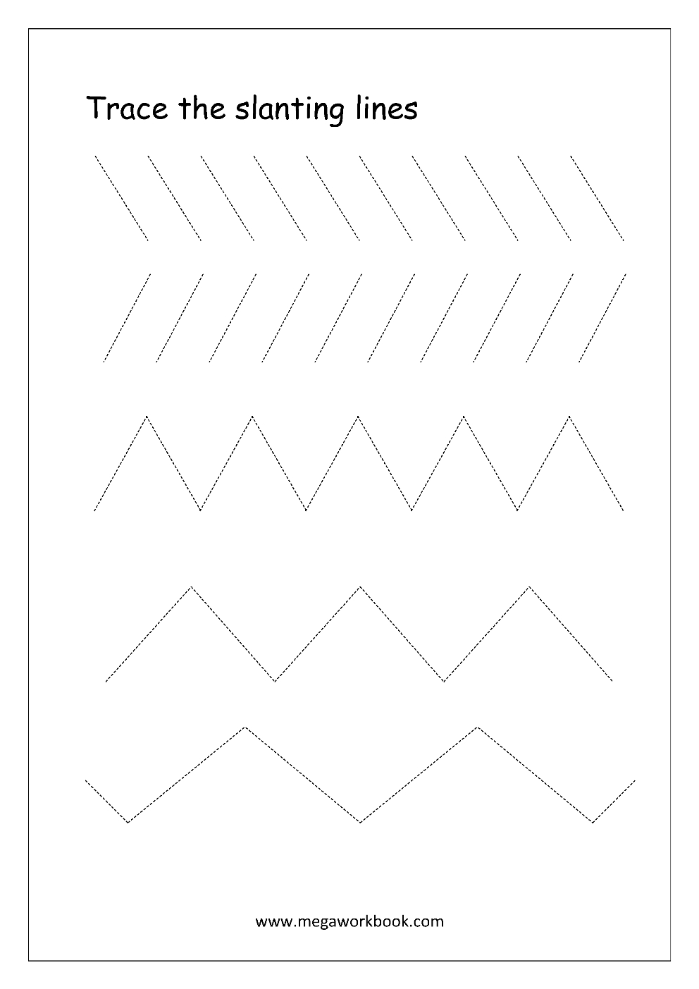 Free Printable Pre-Writing Tracing Worksheets For Preschoolers | Tracing Lines Worksheets Printable