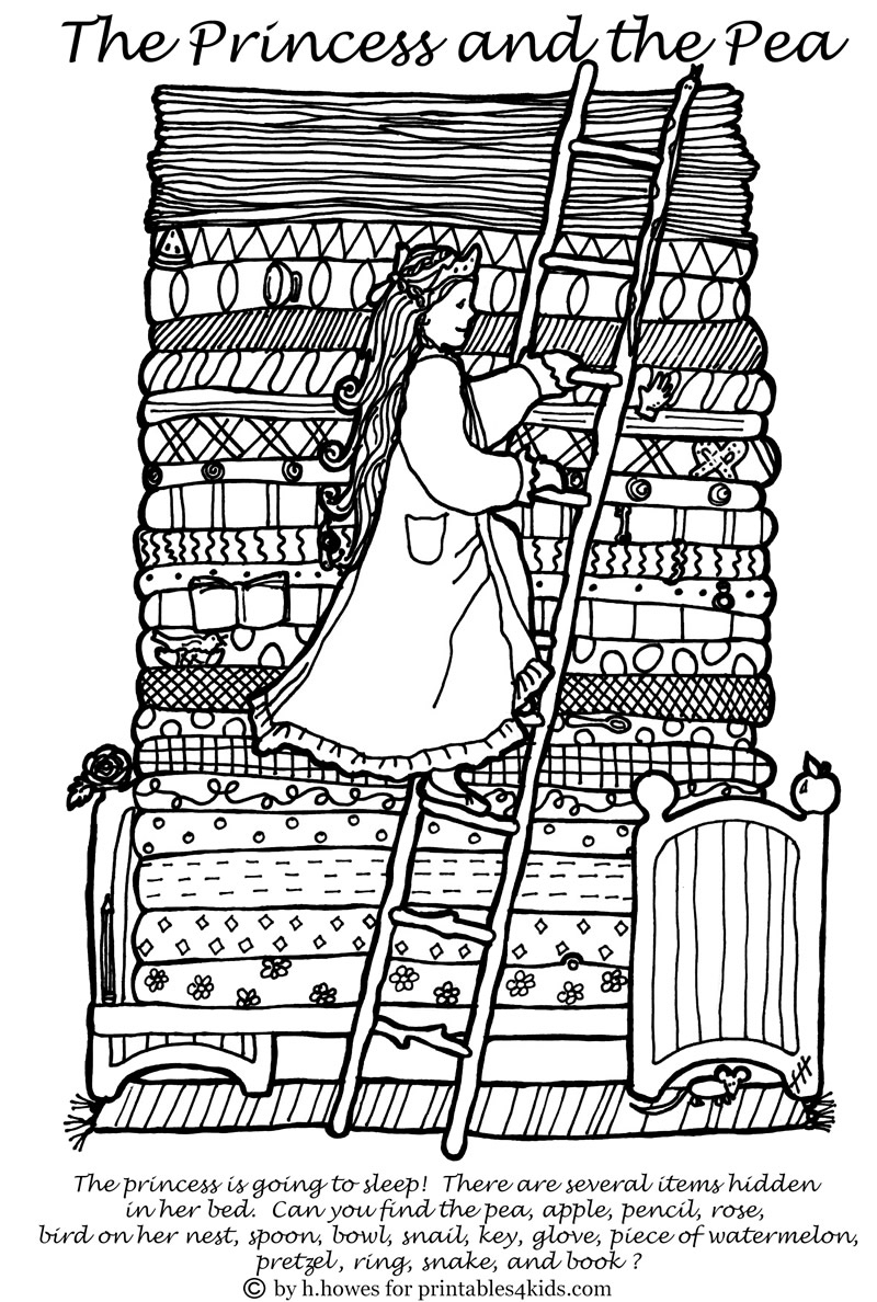 Free Printable Princess And The Pea Hidden Pictures Activity   The Printable Princess Worksheets