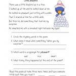 Free Printable Reading Comprehension Worksheets For Kindergarten | Free Printable Grade 1 Reading Comprehension Worksheets