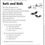 Free Printable Reading Comprehension Worksheets For Kindergarten | Year 3 Literacy Worksheets Printable
