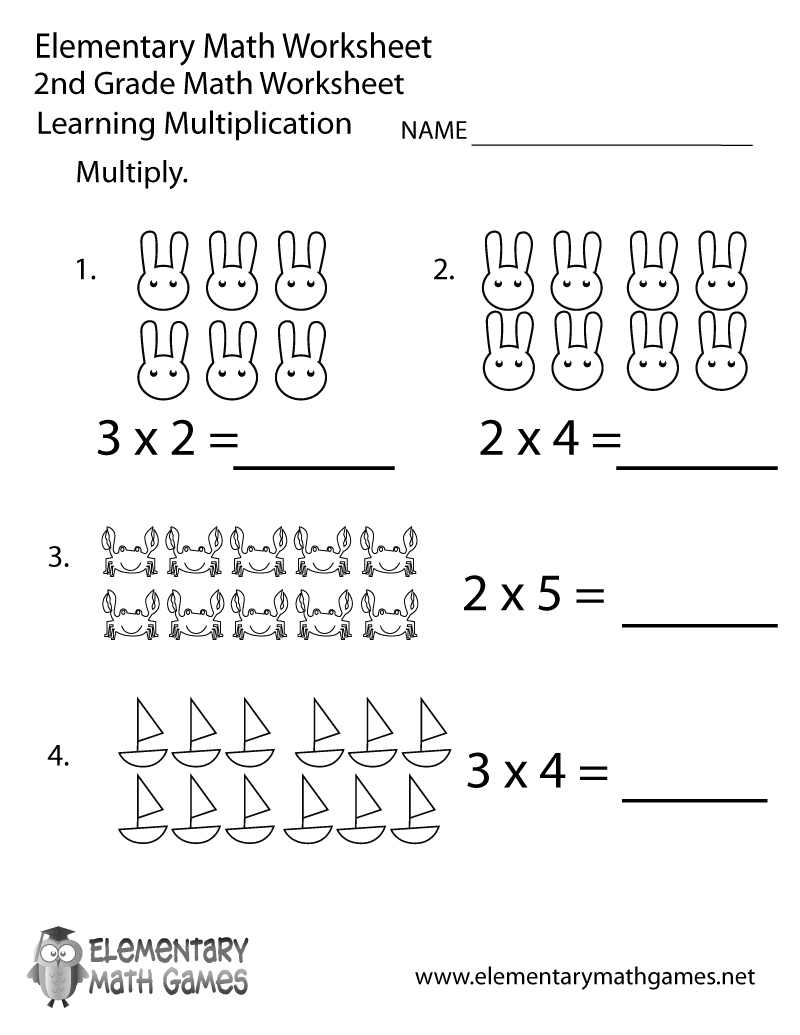 Free Printable Second Grade Math Worksheets » High School Worksheets | Free Printable Second Grade Math Worksheets