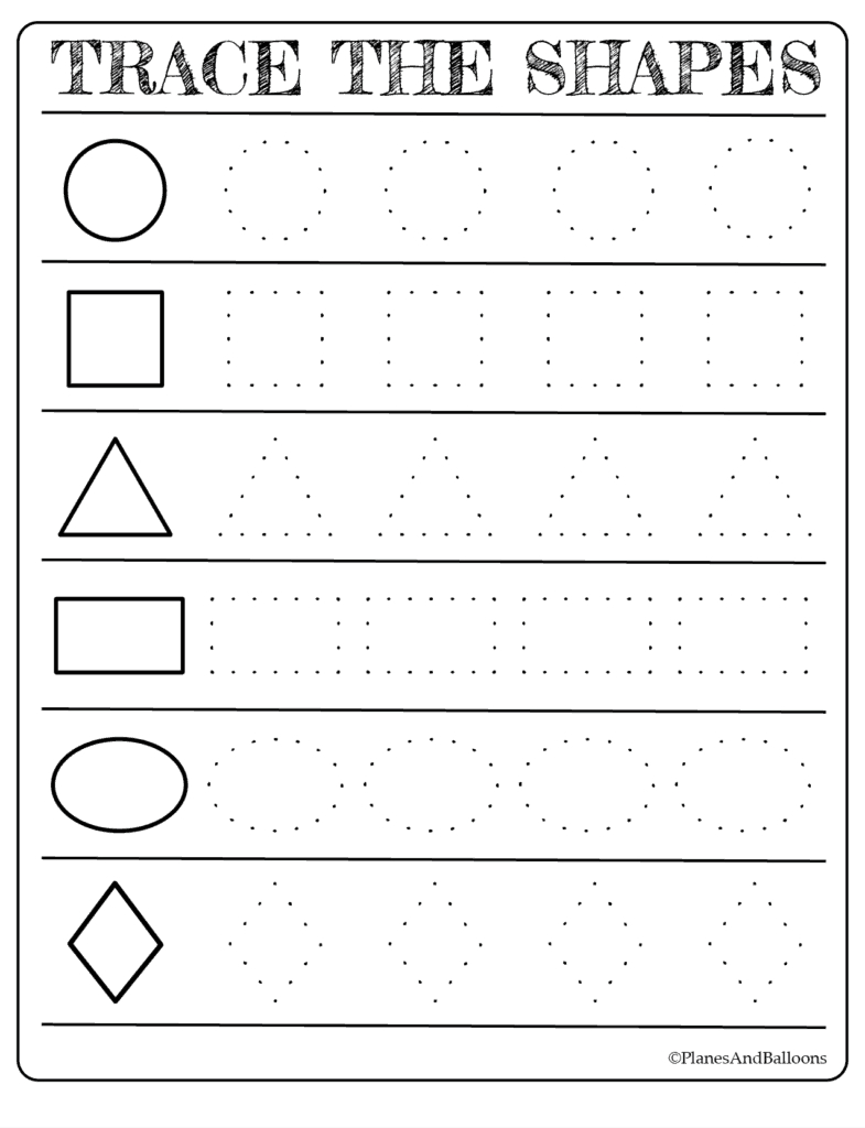 Free Printable Shapes Worksheets For Toddlers And Preschoolers   Free Printable Preschool Worksheets