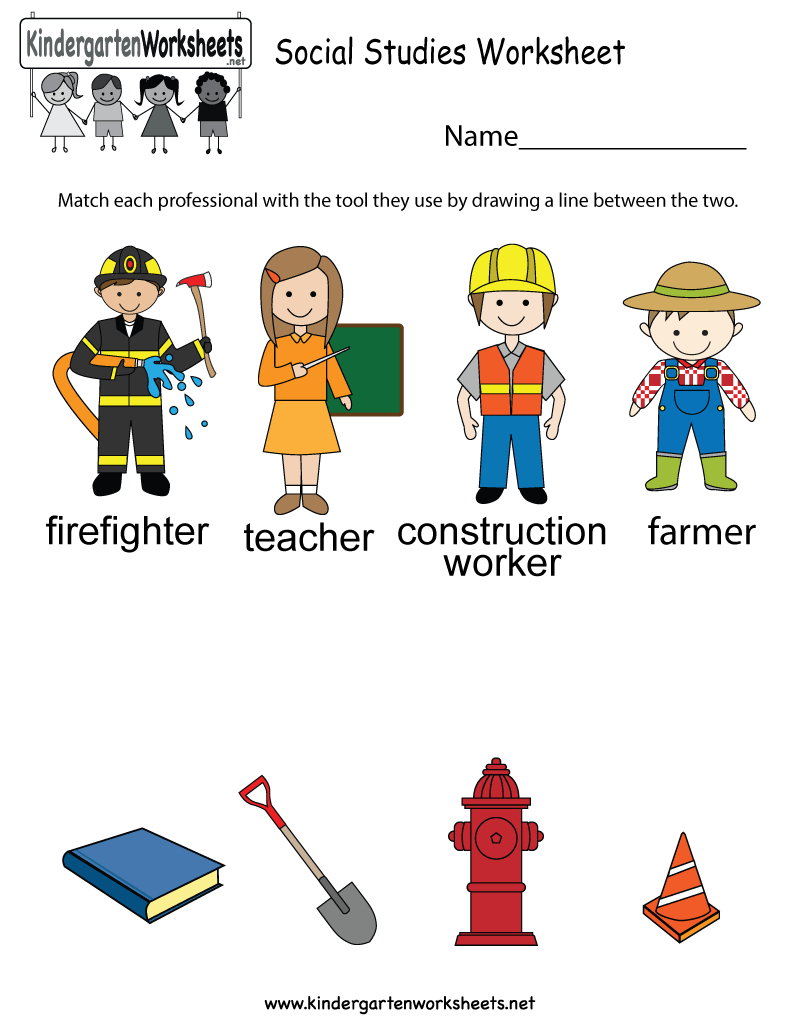 Free Printable Social Studies Worksheet For Kindergarten | Elementary Social Studies Worksheets Printable