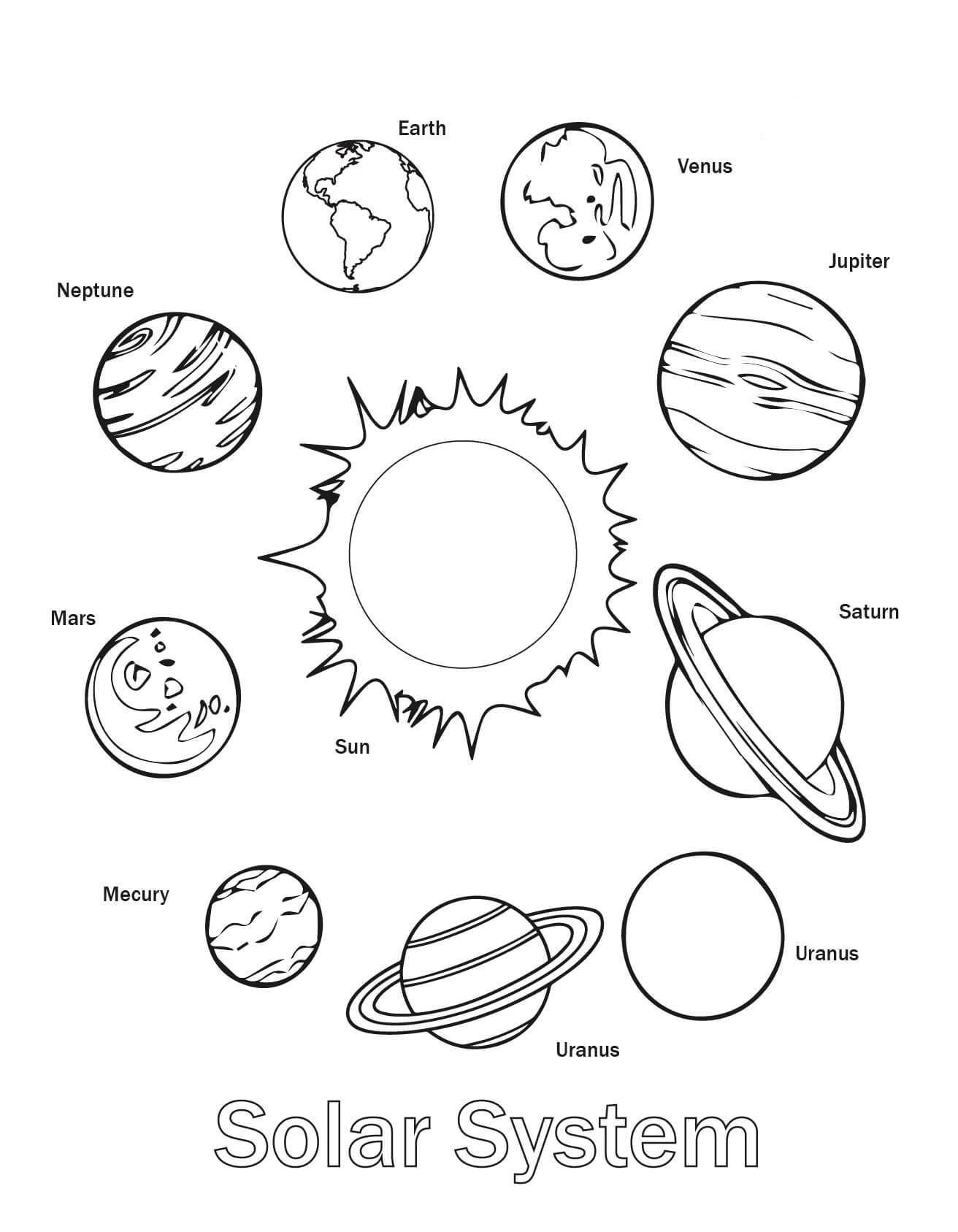 Free Printable Solar System Coloring Pages For Kids | Science | Free Printable Space Worksheets