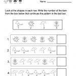 Free Printable Spring Patterns Worksheet For Kindergarten   Free | Free Printable Spring Worksheets For Kindergarten