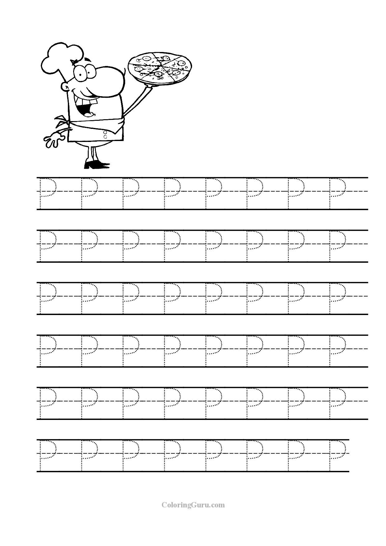 Free Printable Tracing Letter P Worksheets For Preschool | Tracing | Free Printable Letter P Worksheets
