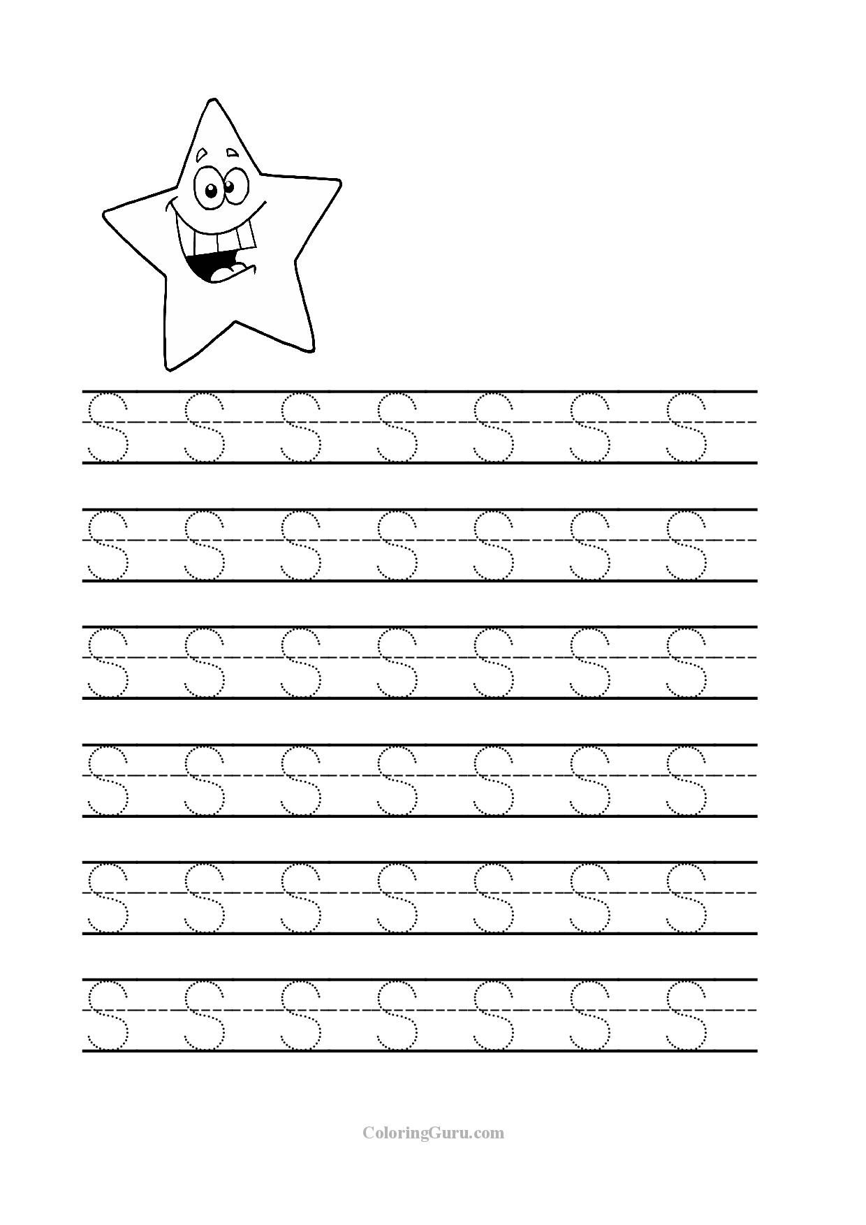 Free Printable Tracing Letter S Worksheets For Preschool | Teaching | Free Printable Worksheets For Preschool Teachers