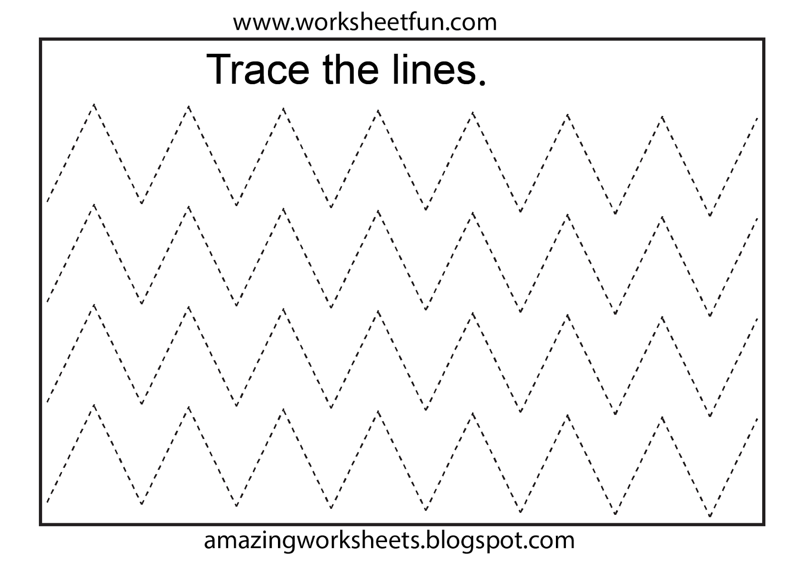 Free Printable Tracing Worksheets Preschool | Preschool Worksheets | Fine Motor Skills Worksheets And Printables