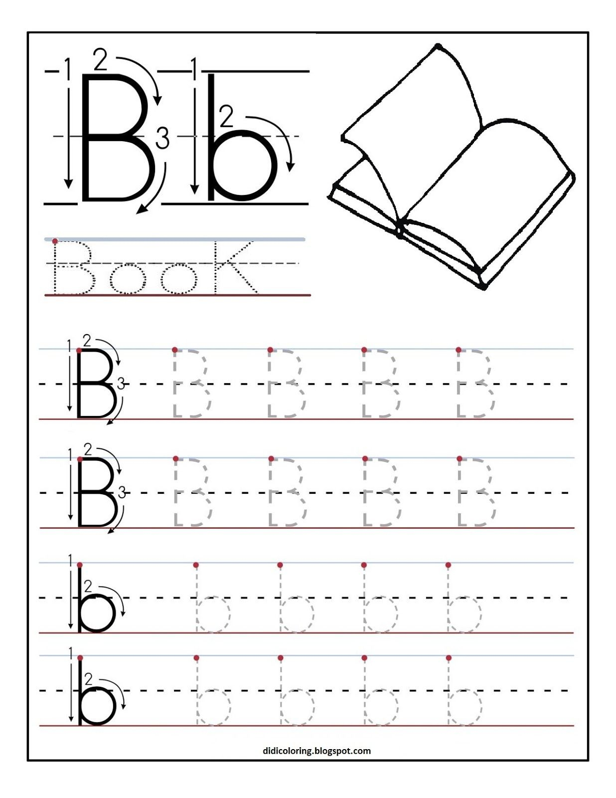 Free Printable Worksheet Letter B For Your Child To Learn And Write | Learn Your Letters Printable Worksheets