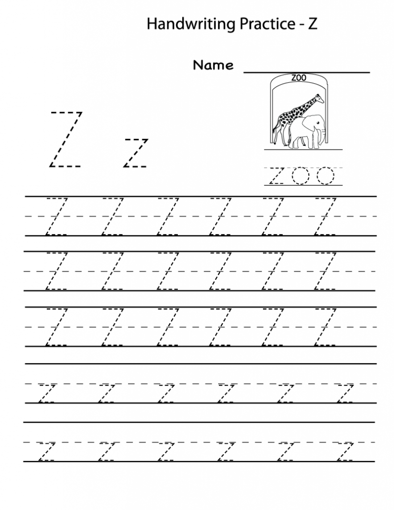 Free Printable Worksheets For Preschoolers For The Letter Z | Letter Z Worksheets Free Printable