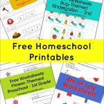 Free Printable Worksheets | Free Printables | Homeschool, Homeschool | Free Homeschool Printable Worksheets
