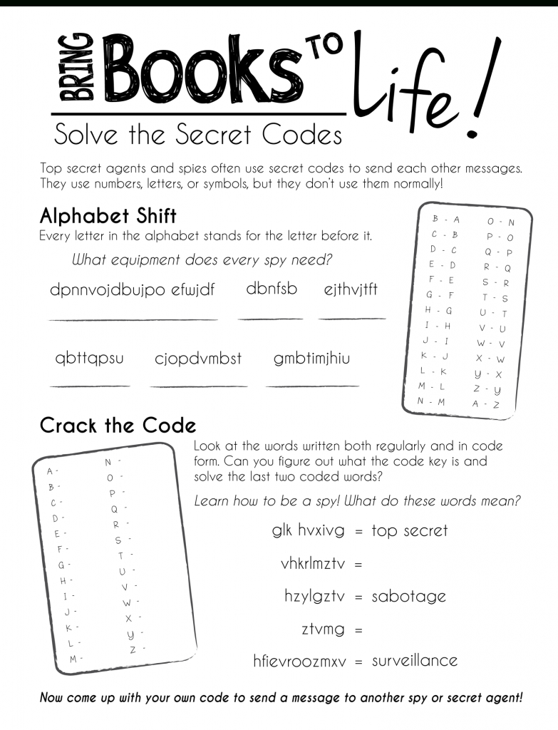 Free Printable Worksheets--Keep The Kids Busy During Summer Break | Crack The Code Worksheets Printable Free
