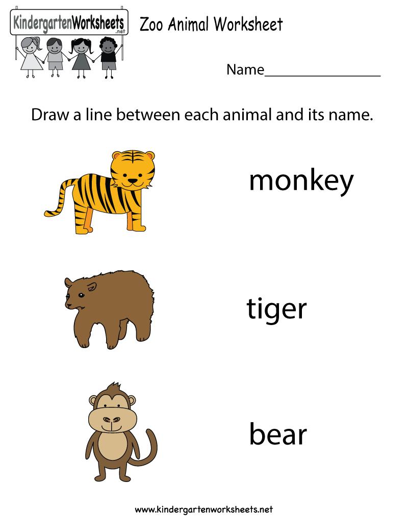 Free Printable Zoo Animal Worksheet For Kindergarten | Free Printable Zoo Worksheets