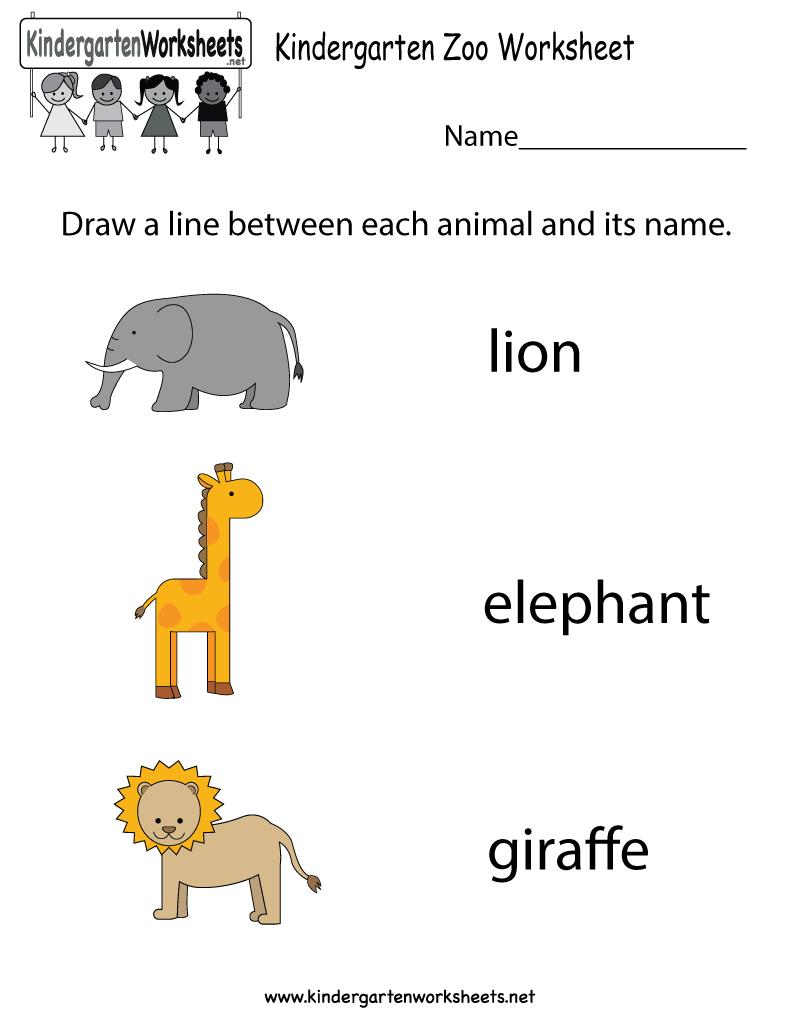 Free Printable Zoo Worksheet For Kindergarten - Free Printable Zoo | Free Printable Zoo Worksheets