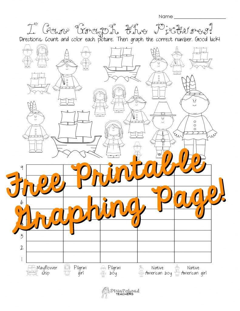Free Thanksgiving Graphing Worksheet (Kindergarten, First Grade | Free Printable Thanksgiving Math Worksheets For 3Rd Grade