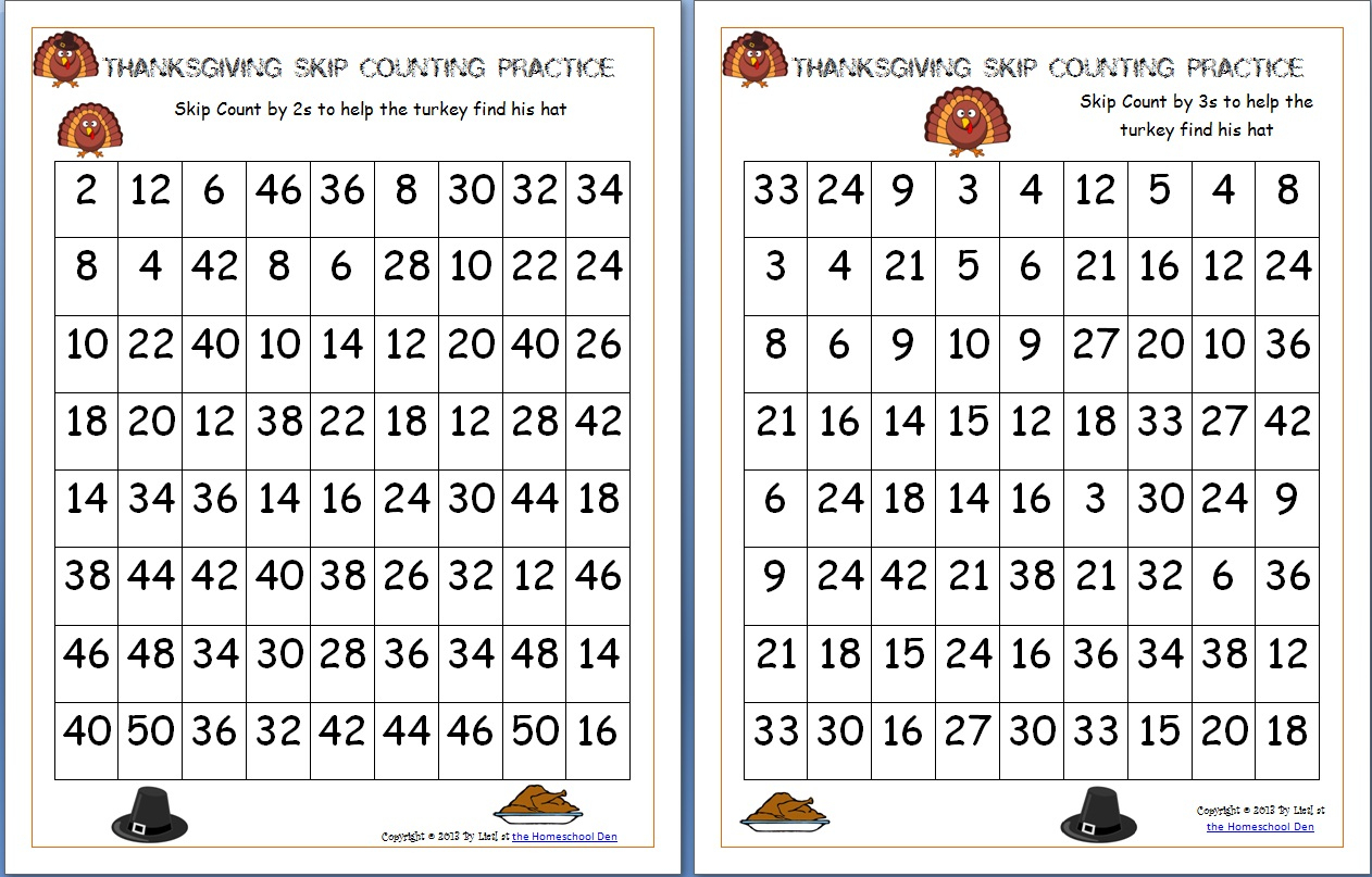 Free Thanksgiving Math Worksheets Archives - Homeschool Den | Math Worksheets Thanksgiving Free Printable