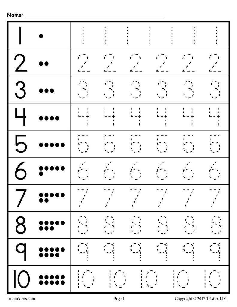 Free Tracing Worksheets Numbers 1-20 | Preschoolers | Kindergarten | Free Printable Tracing Numbers 1 20 Worksheets
