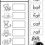 Free Word Family At Practice Printables And Activities | Preschool | Free Printable Word Family Worksheets For Kindergarten