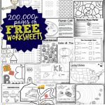 Free Worksheets   200,000+ For Prek 6Th | 123 Homeschool 4 Me | Free Printable Worksheets For Elementary Students