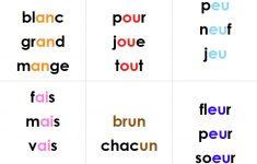 French Reading Pattern Books For Grade 1 | Les Jasettes Word Lists | Grade 1 French Immersion Printable Worksheets