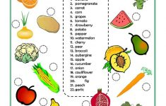 Fruits And Vegetables Worksheet – Free Esl Printable Worksheets Made | Vegetables Worksheets Printables