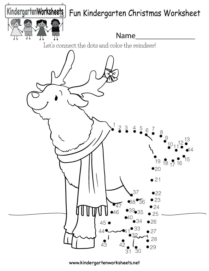 Fun Christmas Worksheet - Free Kindergarten Holiday Worksheet For Kids   Christmas Worksheets Printables For Kindergarten