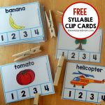 Fun Syllable Count Activity   The Measured Mom | Free Printable Syllable Worksheets For Kindergarten
