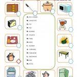 Furniture In The Kitchen Worksheet   Free Esl Printable Worksheets | Kitchen Utensils Printable Worksheets