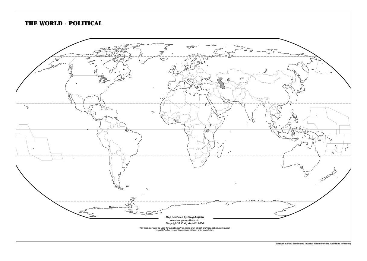 Geography Worksheet: New 591 Geography Worksheet World Map   Free Printable World Map Worksheets