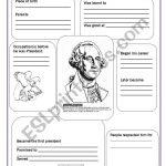 George Washington   Esl Worksheetsvetic | George Washington Printable Worksheets