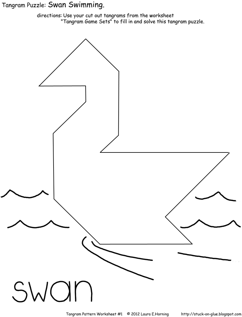 Give Your Octopus A Paintbrush (Or 8): Tangram Game | Printable Tangram Worksheets