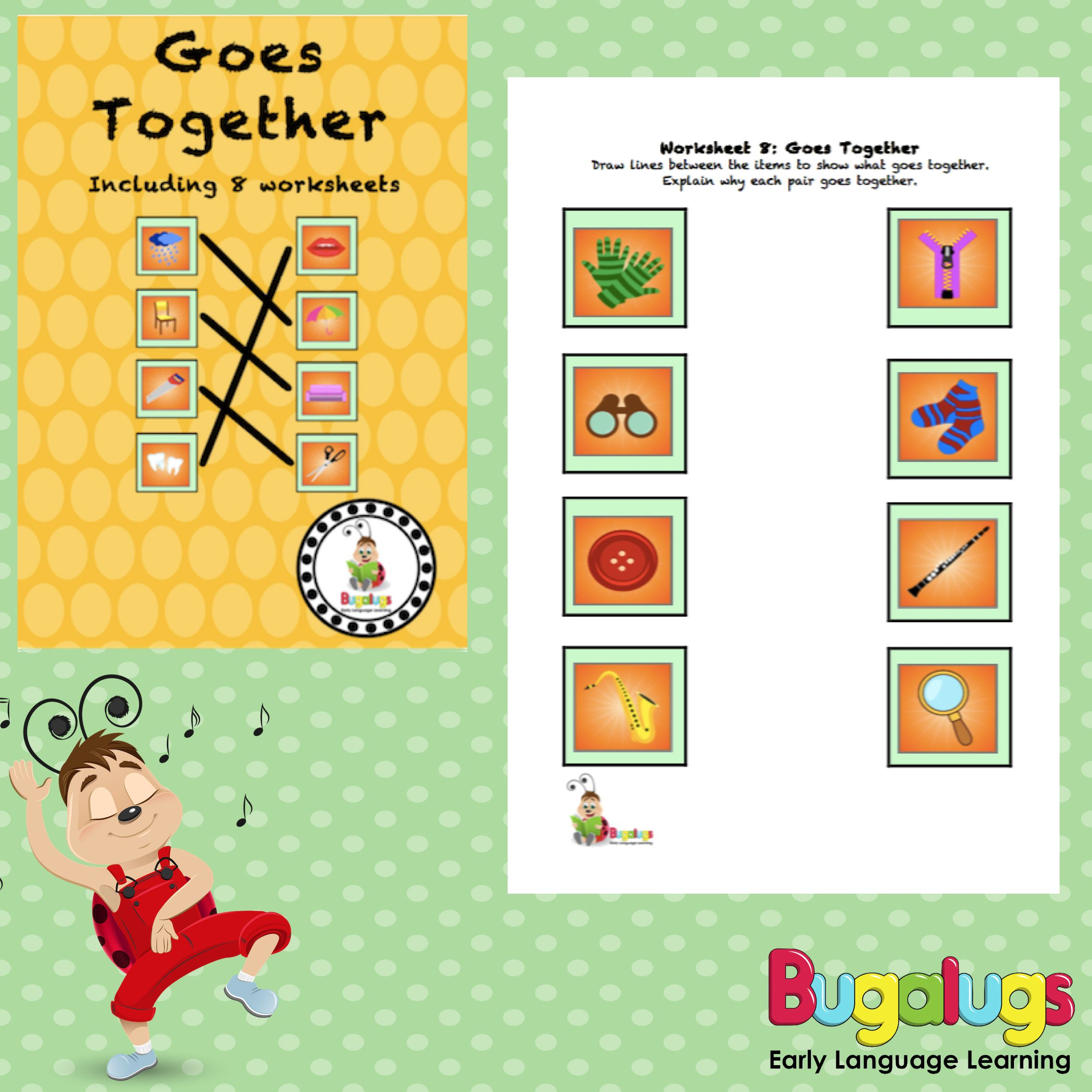 Goes Together Semantic Worksheets -- This Package Contains 8 | Printable Barrier Games Worksheets