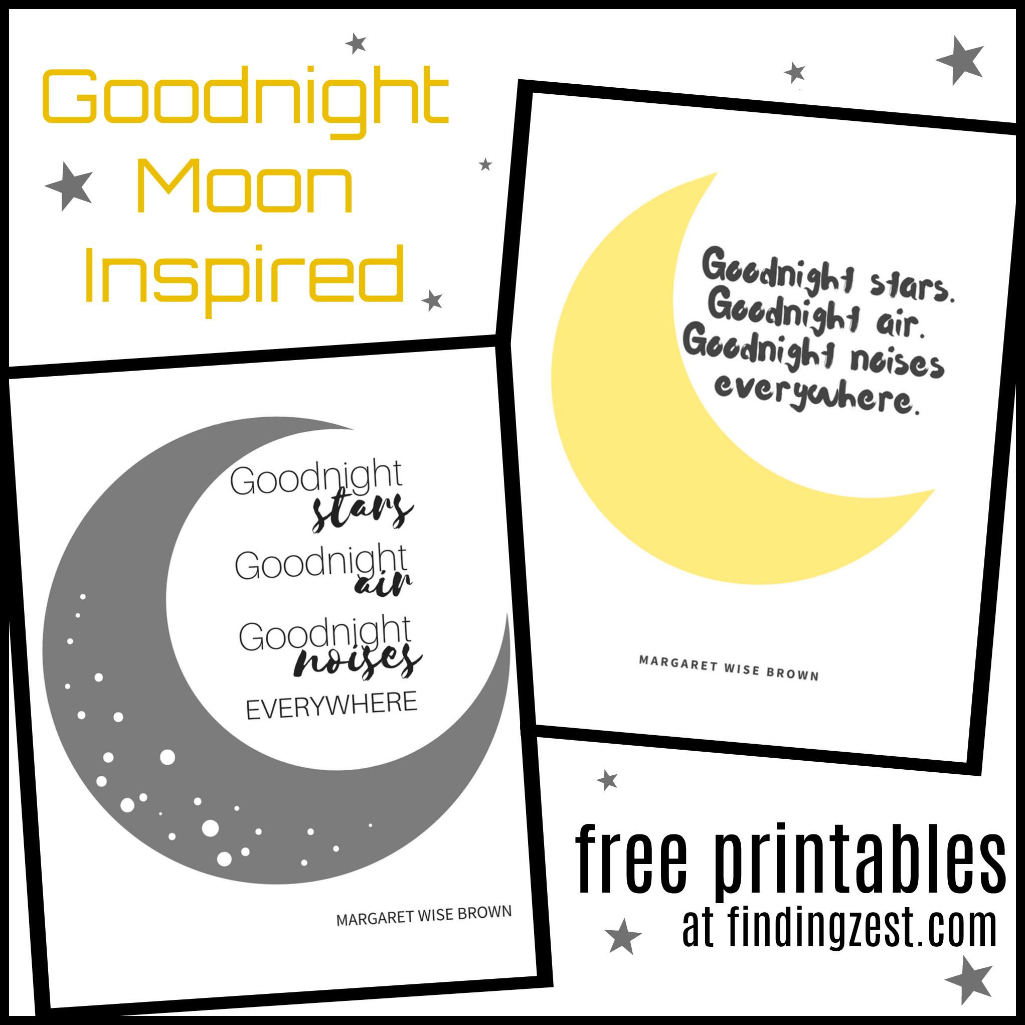 Goodnight Moon Inspired Nursery Free Printables + Good Day, Good | Goodnight Moon Printable Worksheets