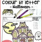Gratuit! Free French Fall/halloween Colourletter Sheets | France | Free Printable French Halloween Worksheets