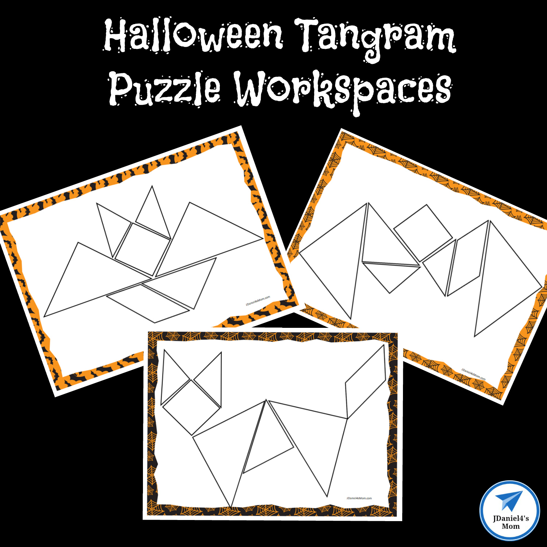 Halloween Themed Printable Tangram Puzzles - Jdaniel4S Mom | Tangram Worksheet Printable Free
