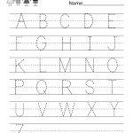 Handwriting Practice Worksheet   Free Kindergarten English Worksheet | English Worksheets Printables