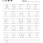 Handwriting Practice Worksheet   Free Kindergarten English Worksheet | Free Printable Writing Worksheets
