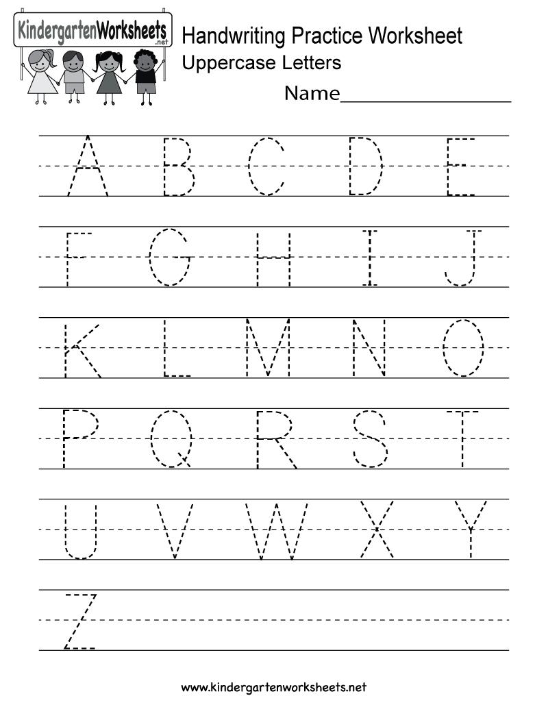 Handwriting Practice Worksheet - Free Kindergarten English Worksheet   Free Printable Writing Worksheets