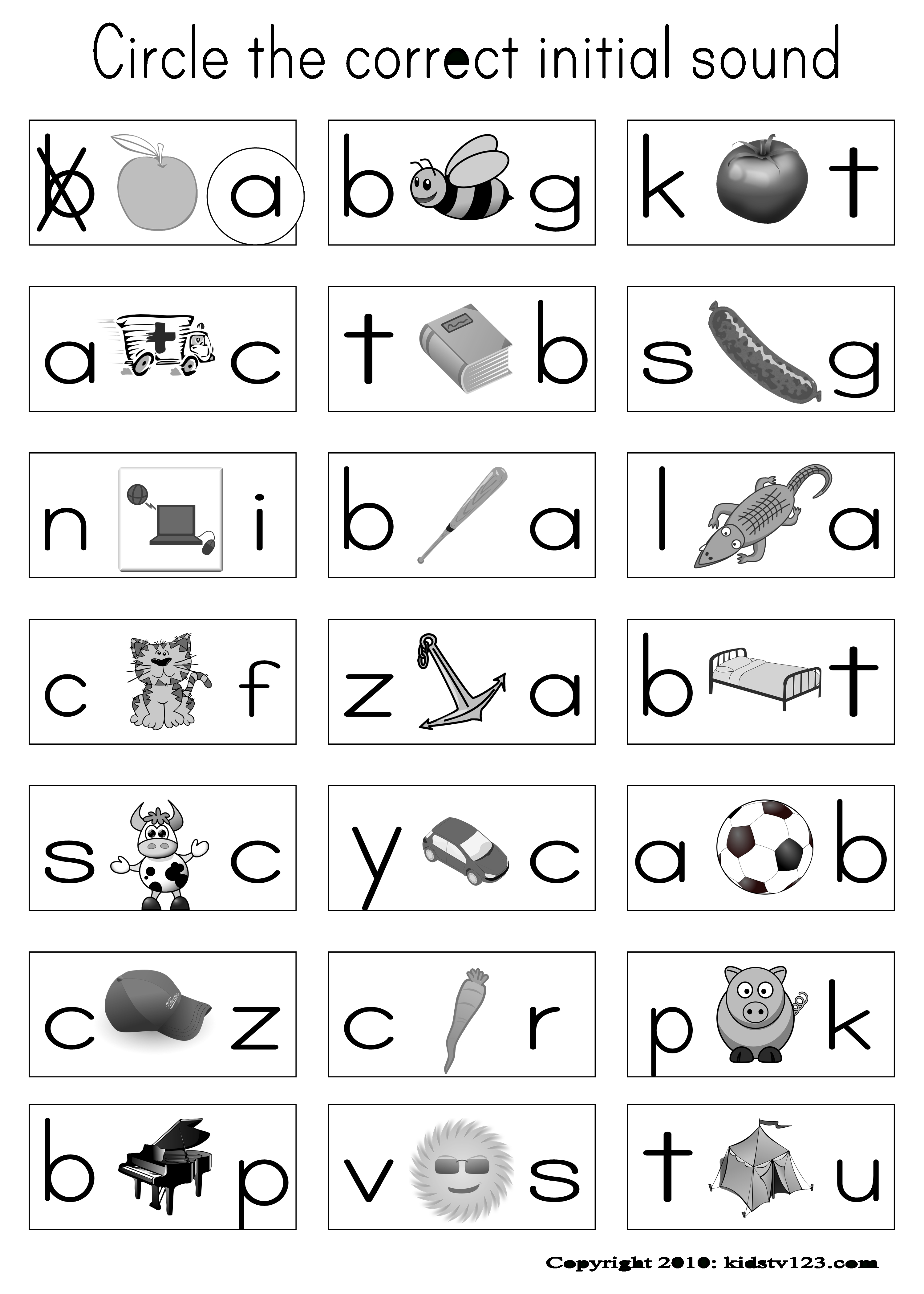 Have Pictures On Their Sheet And When I Say The Word In Spanish   Printable Beginning Sounds Worksheets