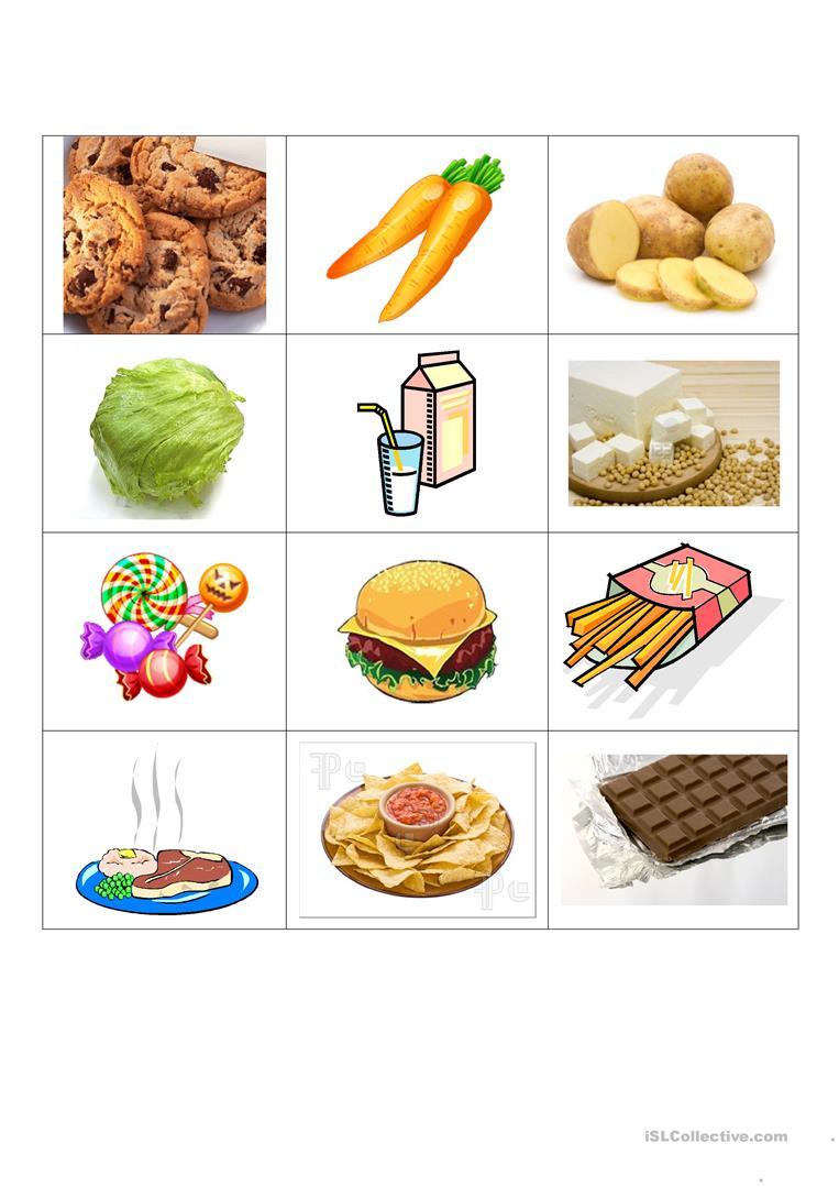 Healthy And Junk Food Worksheet - Free Esl Printable Worksheets Made | Free Printable Healthy Eating Worksheets