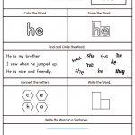 High Frequency Word He Printable Worksheet | Myteachingstation | Printable Sight Word Worksheets