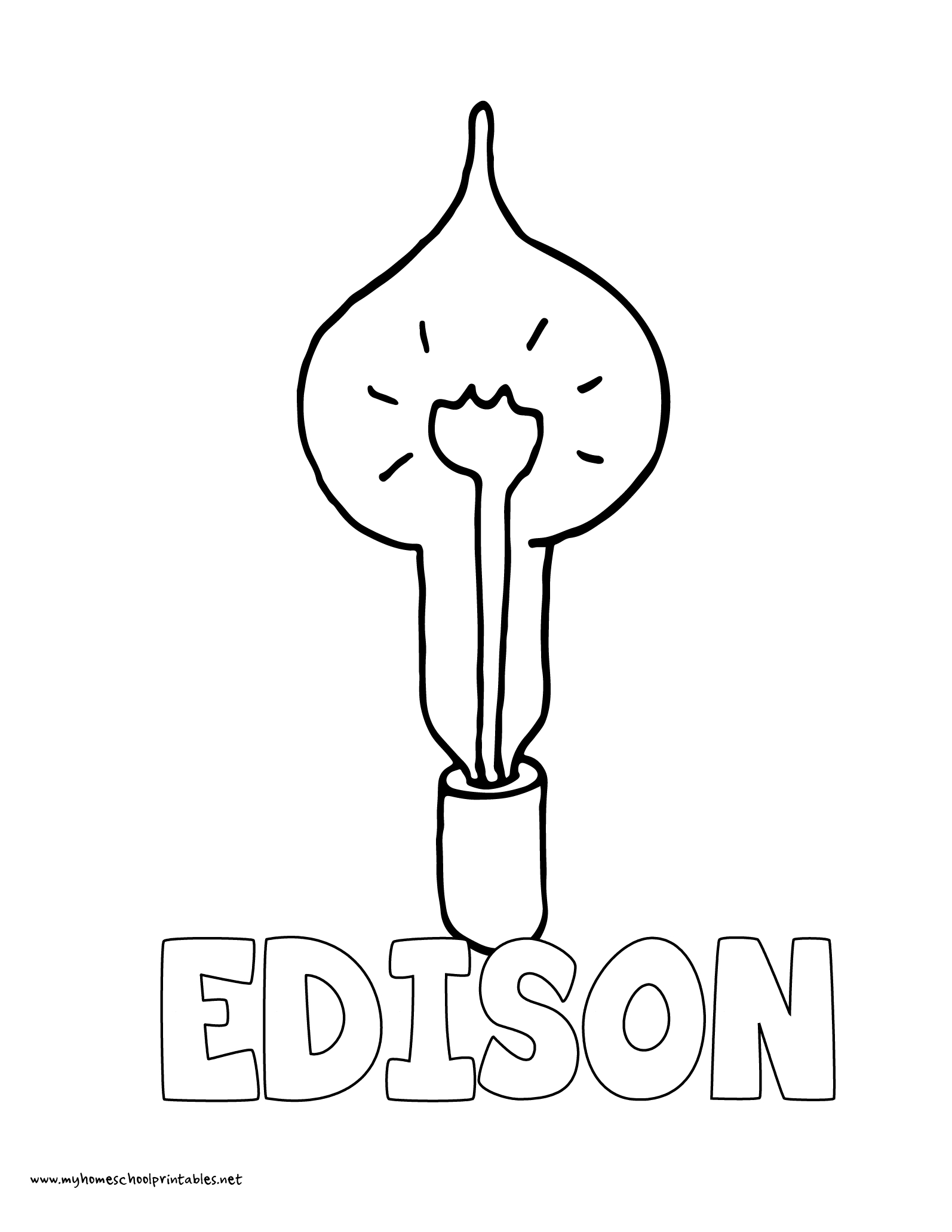 History Coloring Pages – Volume 4 | History Coloring Sheets | Edison | Thomas Edison Printable Worksheets