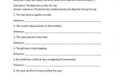 Inference Practice Worksheet | Worksheets For 4Th Grade | Reading | 4Th Grade Printable Worksheets Language Arts