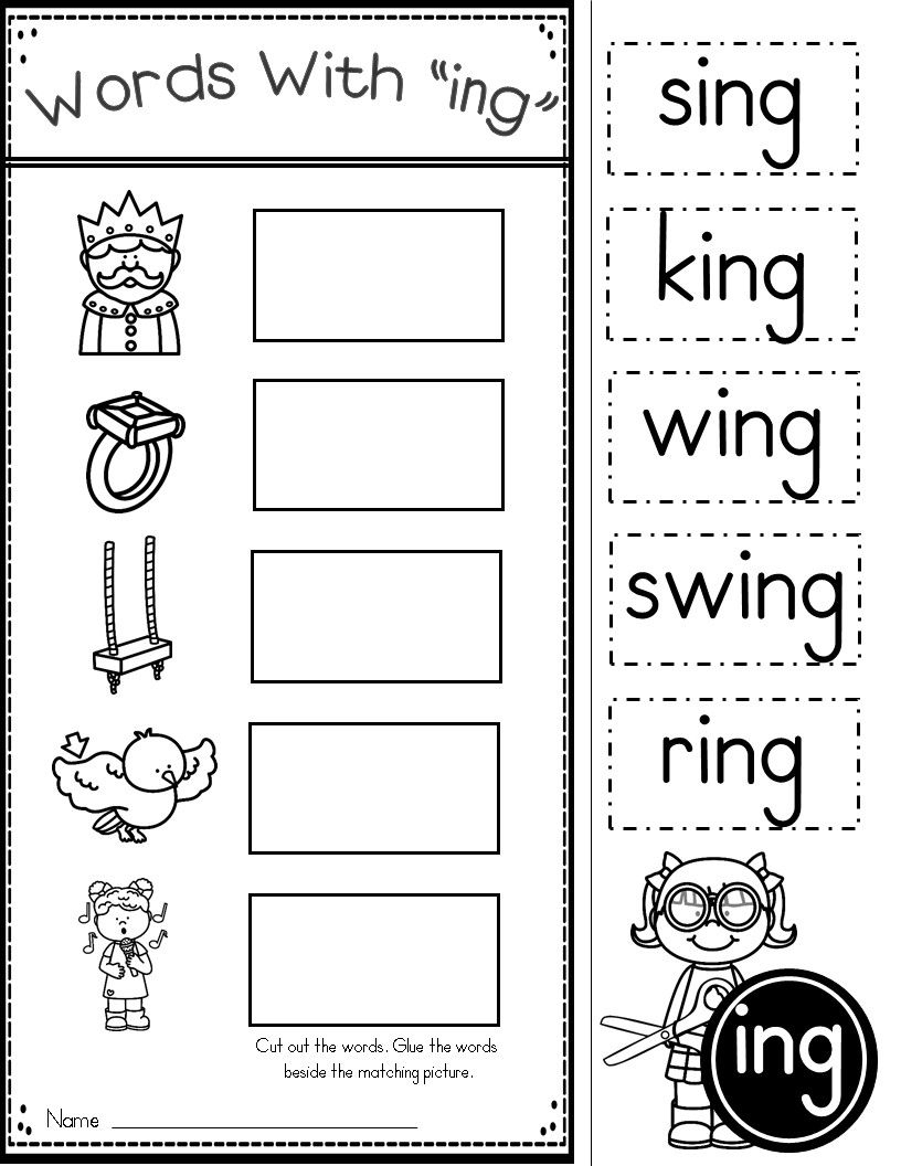Ing Word Work | Kindergarten Tales | Phonics Worksheets, Family | Free Printable Word Family Worksheets For Kindergarten