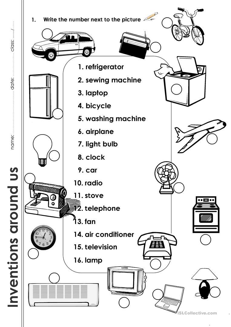 Inventions Around Us Worksheet - Free Esl Printable Worksheets Made | Inventions Printable Worksheets