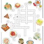 Italian Food Worksheet   Free Esl Printable Worksheets Madeteachers | Free Printable Cooking Worksheets