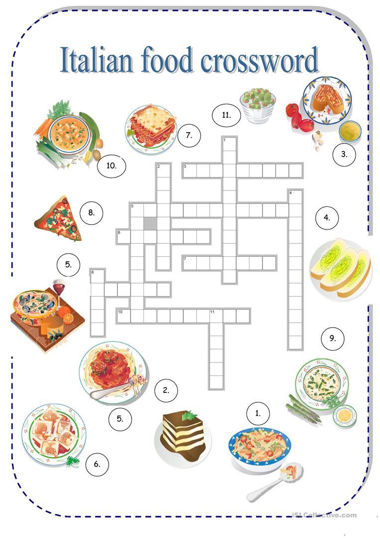 Italian Food Worksheet - Free Esl Printable Worksheets Madeteachers | Italian Worksheets For Beginners Printable